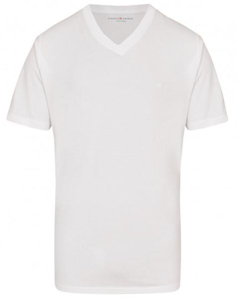 CASAMODA - T-Shirt - Doppelpack - weiß - V-Neck