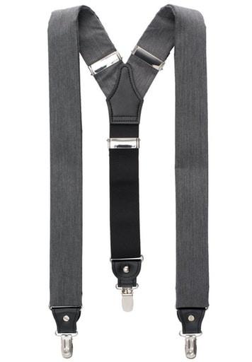 ETERNA - Hosenträger - grau uni - Farbe 35