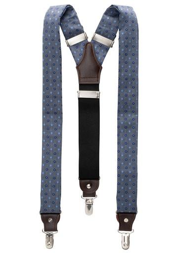 ETERNA - Hosenträger - blau mit Muster - Farbe 18