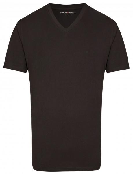 CASAMODA - T-Shirt - Doppelpack - schwarz - V-Neck