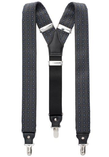 ETERNA - Hosenträger - grau mit Punkten -Farbe 35